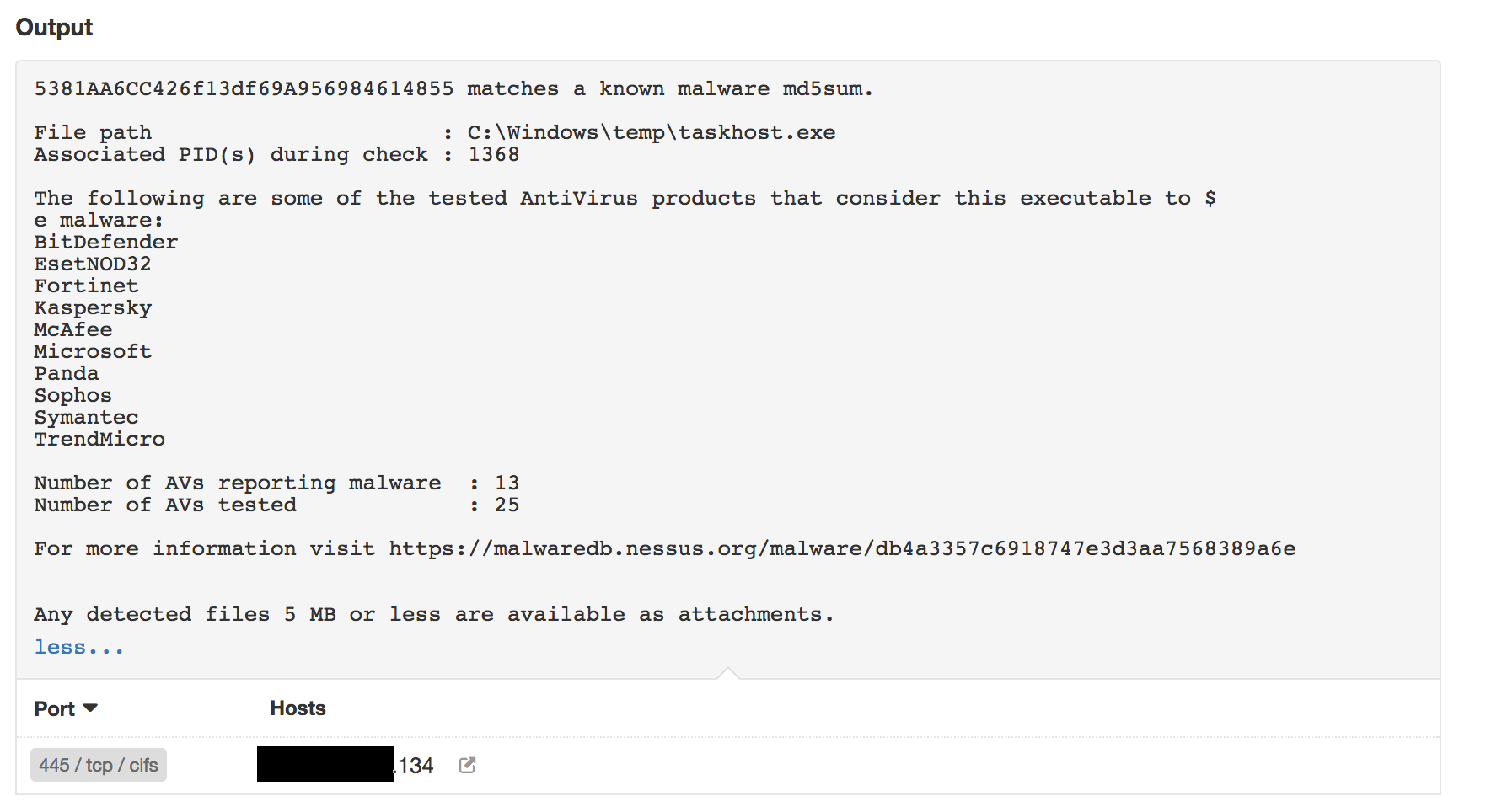 EternalRocks hash detected with plugin #59275
